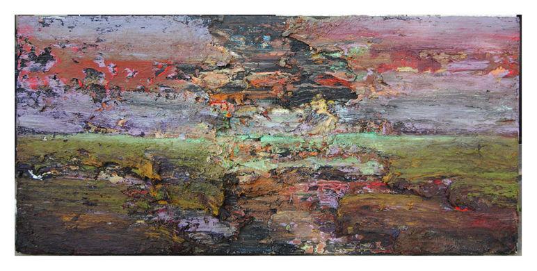 Bagdad, 2010 oil on wood 170 x 80 cm