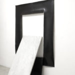 Clean Cut Installation; rubber, marble 230 x 120 x 60 cm Milan, 2013