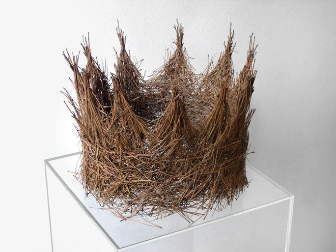 Martha Dimitropoulou Crown, 2009 Pine needles 30x30x25 cm