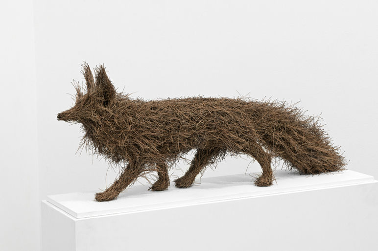 Martha Dimitropoulou Fox, 2013 Pine needles 110x40x30 cm