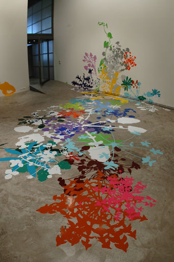 Martha Dimitropoulou Splash, 2006 On site installation at Ileana Tounta Gallery Adhesive vinyl, dimensions variable