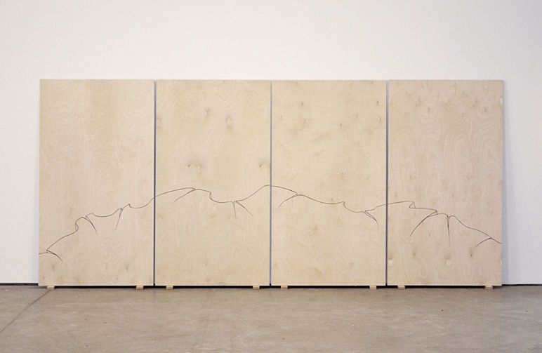 The End Of It All, Before The End, After The End, End End End, Part 2, 2011 Plywood (birch), cazein paint Quadptych, 170X95 cm each