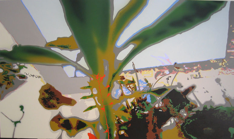 Martha Dimitropoulou The Large Piece of Turf 1, 2009 Acrylic on canvas 240x140 cm